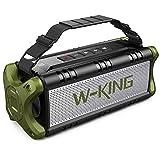 Bluetooth Speaker, W-KING 50W(70W Peak) V5.0 IPX6 Waterproof Wireless Outdoor Portable, TF Card...