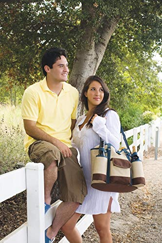 """LEGACY - a Picnic Time Brand Country Cheese Service and Corkscrew Wine Tote Bag, 14"""" x 12"""