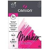 Canson Arts graphiques Marker layout Papier à dessin A4 21 x 29,7 cm 70 feuilles Extra Blanc