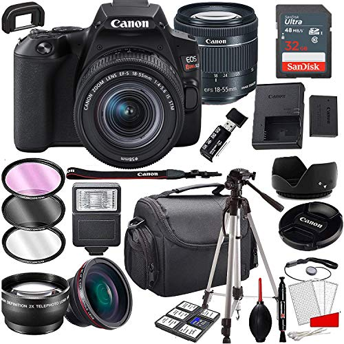 Canon EOS Rebel SL3 DSLR Camera with 18-55mm f/4-5.6 is STM Zoom Lens , 32GB Memory,Case, Tripod and A Complete Accessory Bundle