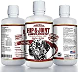 100% Natural Glucosamine for Dogs - 32oz Glucosamine Chondroitin for Dogs - Msm Dog Joint Supplement - Dog Glucosamine - Dog Hip and Joint Supplement - Joint Supplement for Dogs Made in USA