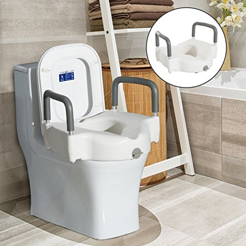 New MTN-G Raised Elevated Toilet Seat Padded Arms Health...