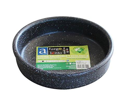 A Fuego Lento Cazuela Horno Piedra, Barro, Negro Granito, 20 cm