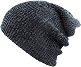 KBW-10 DGY Slouchy Beanie Baggy Style Skull Cap Winter Unisex Ski Hat,(10) Dark Gray,One Size Fits All
