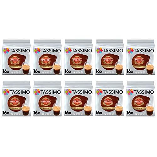 TASSIMO Marcilla Espresso Café es Cápsulas - Paquete de 10