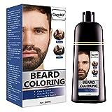 Coloration de La Barbe, Beard Coloring, Darkening Beard Wash, Barba & Moustache, Shampooing Cheveux Noirs(200ml)