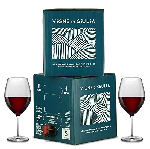 Bag in Box vino Cabernet IGT Venezia Giulia 12% - Vigne di Giulia - 2 confezioni da 5 litri