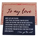 Engraved Wallet Insert, Anniversary Gif ts for Him, Gifts for...
