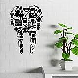 Calcomanías de pared de clínica dental médico dental hospital farmacia decoración pegatinas de vinilo ideas ~ decoración de ventana, habitación, dormitorio, jardín de infantes