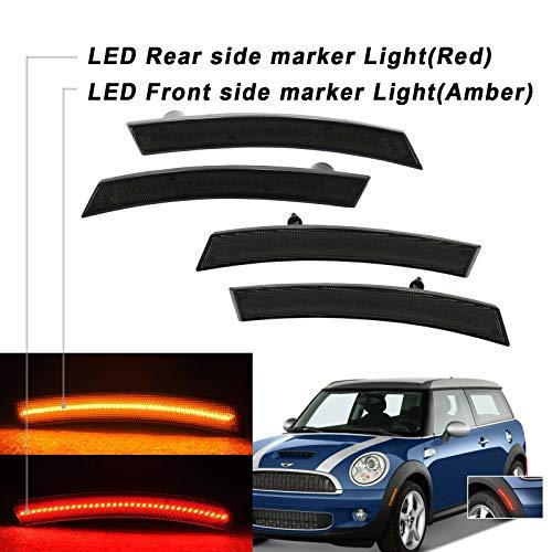NSLUMO - Set di 4 luci per parafanghi anteriori e posteriori a LED per Mini Cooper R50 R52 R53 2002-2008