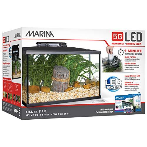 Marina LED Aquarium Kit, 5 Gallon
