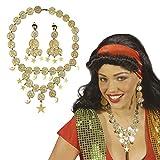 GIPSY joyas set collar y pendientes oro Orient Oro Joyas Danza del Vientre Mode Piratas joyas set...