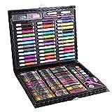 Cepillo de acuarela Pluma Juego de herramientas Juego de herramientas de color pluma pluma Crayon Oil Pastel Art Escuela Papelería Inspiración Arte del arte para adultos y niños Dibujo (Color: Negro,