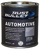 RUST BULLET - Automotive Rust Inhibitor Paint - Rust Preventive Protective Coating - No Topcoat Needed - Quart Metallic Gray