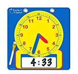 Teacher's Choice Writable Dry Erase Learning Clock | Large 12' Demonstration Teaching Time Practice Clock with Dry Erase Writing Surface | Marker Included | (Blue)
