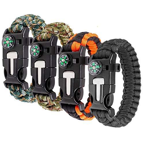Bracelet Survie Boussole Bracelet Kit Survie Multifonction Bracelet Survie...