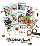 Paper House Productions SET0002 Halloween Planner Accessory Bundle includes Stickers Washi Tape, Planner Clips