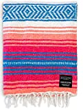 Authentic Mexican Blanket - Park Blanket, Handwoven Serape Blanket, Perfect as Beach Blanket, Picnic...