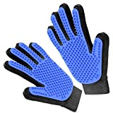 Pet Cat-Dog Grooming Glove - Brush Glove Hair Removal for Dogs/Cats,Pet Massage Gloves Left & Right Hand Draw Dogs Cats Horses Long Short Fur