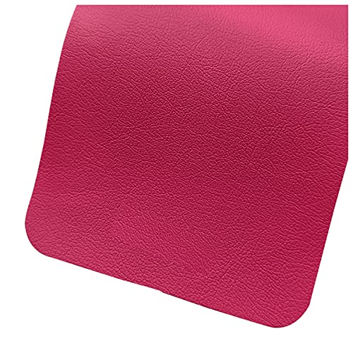 NIANTONG Tinta Unita Tessuto in Ecopelle al Metro Largo 138cm Ignifugo Morbida Finta Pelle Vinile per Tappezzeria di Sedie Divano, Cucito Fai da Te, Auto(Color:Rosso Rosato)
