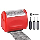 Identity Protection Roller Stamp,Innissunny Wide Identity Theft Protection Roller Stamp (red)