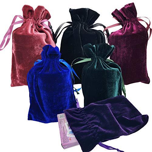 GIFTEXPRESS Velvet Tarot Rune Bag Bundle of 6: Moss Green,...