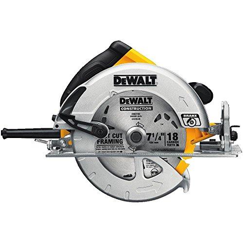 Dewalt DWE575SB - Cierra circular liviana de 19 cm con freno eléctrico
