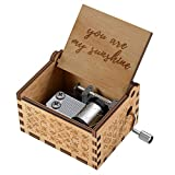 You are My Sunshine Wood Music Boxes,Laser Engraved Vintage Wooden...