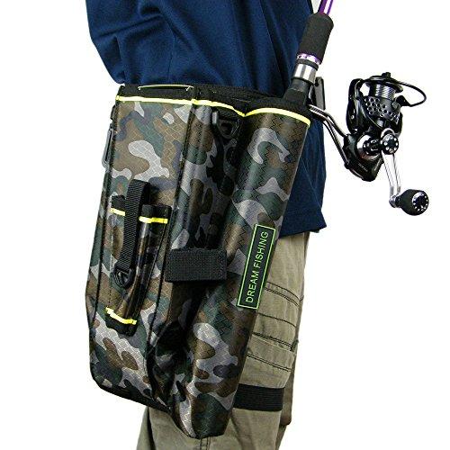 Canna da pesca a mosca borsa copertura di attrezzatura da pesca borse Storage box camouflage camo Fishing Tools multifunzione in nylon marsupio Leg bag
