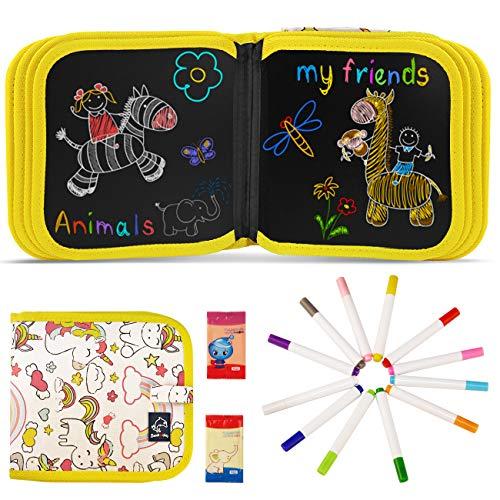 JOYUE Enfant Licorne Doodle Planches, Enfant Tableau de Dessin Effaçable...