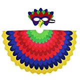 D.Q.Z Kids Bird Wings for Girl Boy Parrot Costume and Dress-Up Mask (Multicolor)