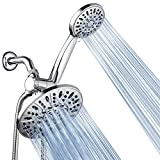 AquaDance 7' Premium High Pressure 3-Way Rainfall Combo for The Best of Both Worlds - Enjoy Luxurious Rain Showerhead and 6-Setting Hand Held Shower Separately or Together - Chrome Finish - 3328