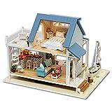 GFDFD Casa de muñecas de Juguete de Madera Casa de muñecas en Miniatura con Muebles Casa de Madera Juguetes para niños Modelo de Juguete de construcción F
