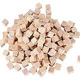200pcs 10mm Cube Bois Naturels Blocs Carrés Boiseries Artisanat Accessoirs...