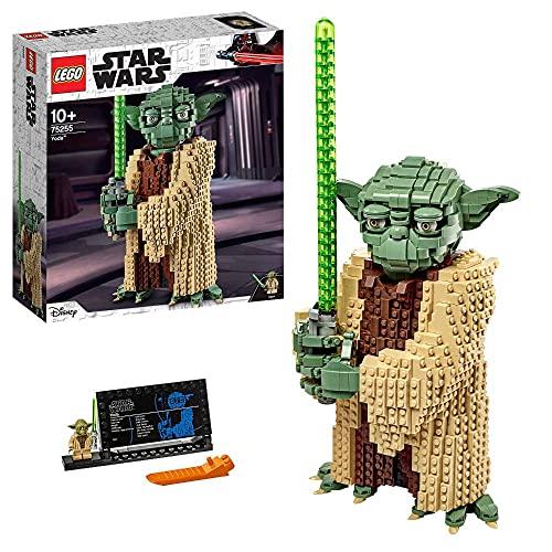 Lego 75255 Star Wars Yoda Bauset, Sammlermodell mit Displayständer, Angriff der Klonkrieger...