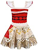 AmzBarley Dress up Toddler Girls Princess Adventure Costumes Cosplay Outfit Birthday Party Role Play Clothes Age 9-12 Months Size 2T Red