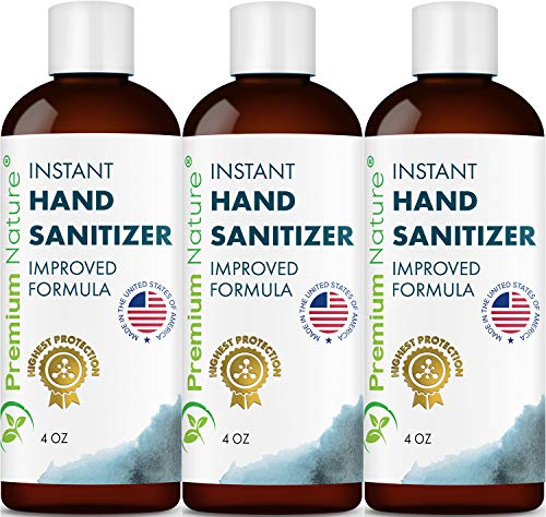 Instant Hand Sanitize Gel - 3 Pack Value Size Advanced Natural Hand Sanitize Cleaner Portable Aloe Vera Moisturizer Packaging May Vary