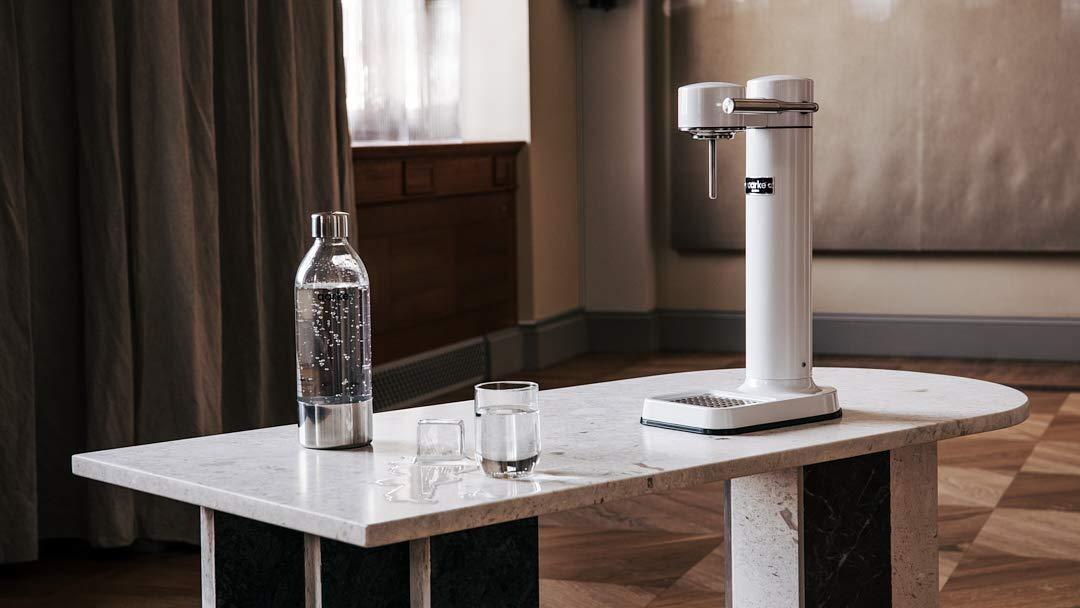 aarke - Carbonator III Premium Carbonator/Sparkling & Seltzer Water Maker with PET Bottle (White)