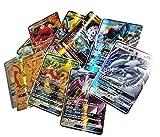 Blesser Pokémon Carte GX 100 pcs, Jeu de Carte Pokémon 50 GX 10 Trainer 20...