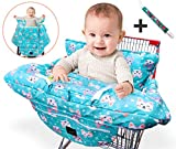 YASMIN BOX Shopping Cart Covers for Baby - High Chair Cover and Grocery Cart Cover for Baby - Shopping Cart Cover Fits Larger Carts with Extra Thick Padding