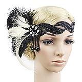 Femme Coiffure Vintage Bandeau Plume de Paon avec Plume Strass Décoration de...