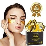 (24 PAIRS) Rejuvenating Under Eye Mask for Puffy Eyes - Dark Circles Under Eye Bags Treatment - 24k Gold Anti-Aging Under Eye Patches - Under Eye Pads w/Hydrating Gel - Wrinkle Care for Women and Men