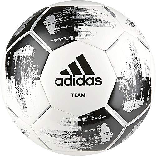 Adidas Team Glider   Machinaal genaaid   Soft Touch oppervlak   Voor voetbalclubs   100% polyurethaan   Maat 5   Zwart/Wit/Zilver