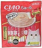 【Amazon.co.jp限定】 チャオ (CIAO) 猫用おやつ ちゅ~る フィッシュ 14g×45本入