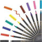 Edding 1340 Brush Pen, Rotuladores con punta tipo pincel variable–Ideal para mano Lettering,...