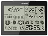 Youshiko YC9360 Digital Weather Station with Radio Controlled Clock ( Official UK Version ), Indoor Outdoor Temperature Humidity , Sunrise , Sunset , Moonrise , Moonset Times , Barometric Pressure