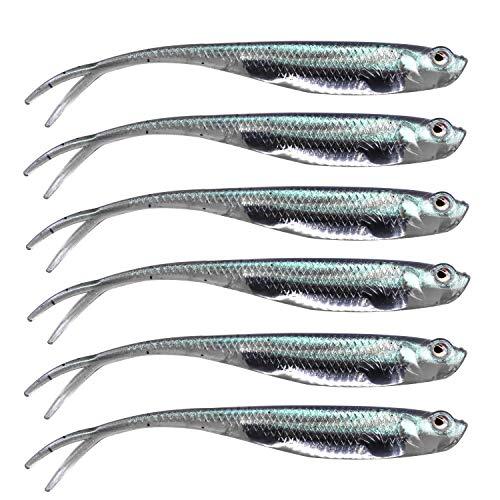 QualyQualy 7,5cm Esche Artificiali Silicone di Pesca, Esca Gomma di Pesca, Siliconici Spinning Esche di Pesca per Trota, spigola
