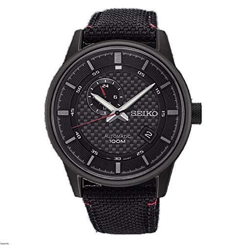 Seiko Herren Analog Automatik Uhr mit Leder Armband SSA383K1