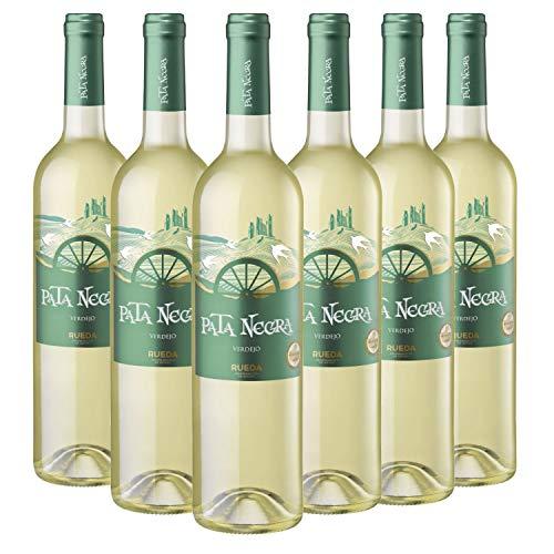 Pata Negra Verdejo - Vino Blanco D.O Rueda - Caja de 6 Botellas x 750 ml