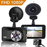 ORSKEY Dash Cam Front and Rear 1080P Full HD Dual Dash Camera In Car Camera Dashboard Camera Dashcam for Cars 170 Wide Angle HDR with 3.0' LCD Display Night Vision Motion Detection and G-sensor